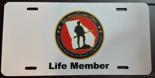 License Plate with Logo - Life Member